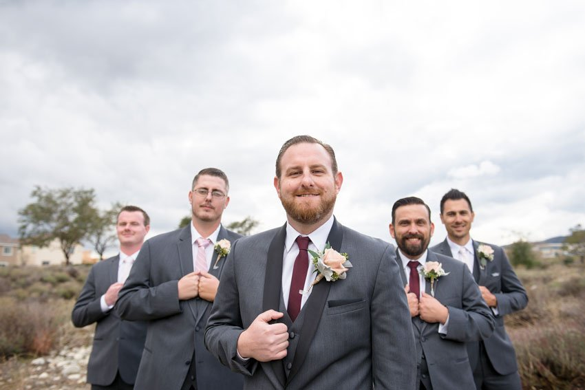 Coordinating Colours with Groomsmen