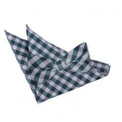 Black Gingham Check Bow Tie & Pocket Square Set