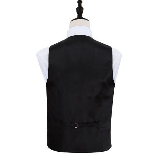 Black Greek Key Wedding Waistcoat