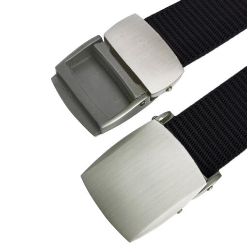 Black Canvas Buckle Belt One Size