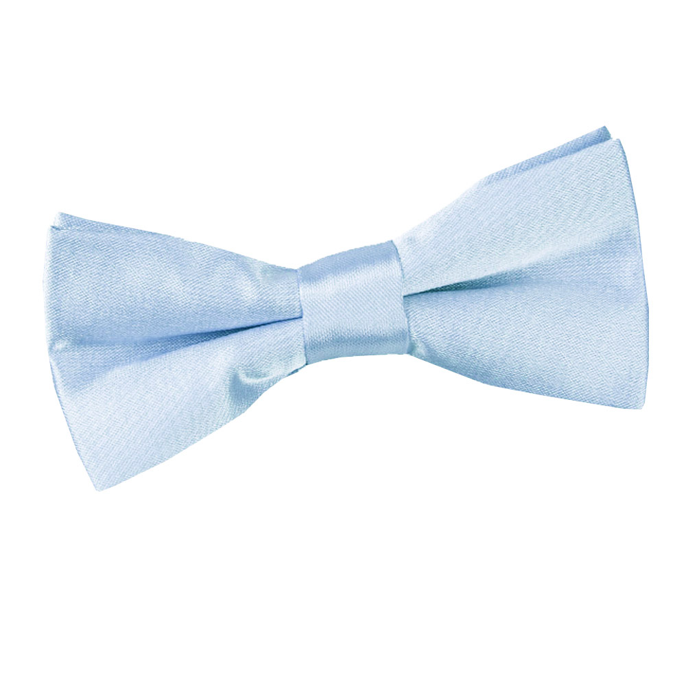 boy s plain baby blue satin bow tie