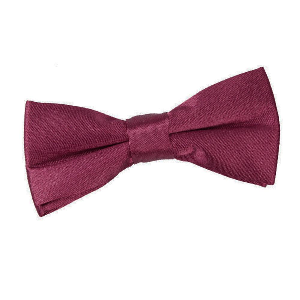 boy s plain burgundy satin bow tie