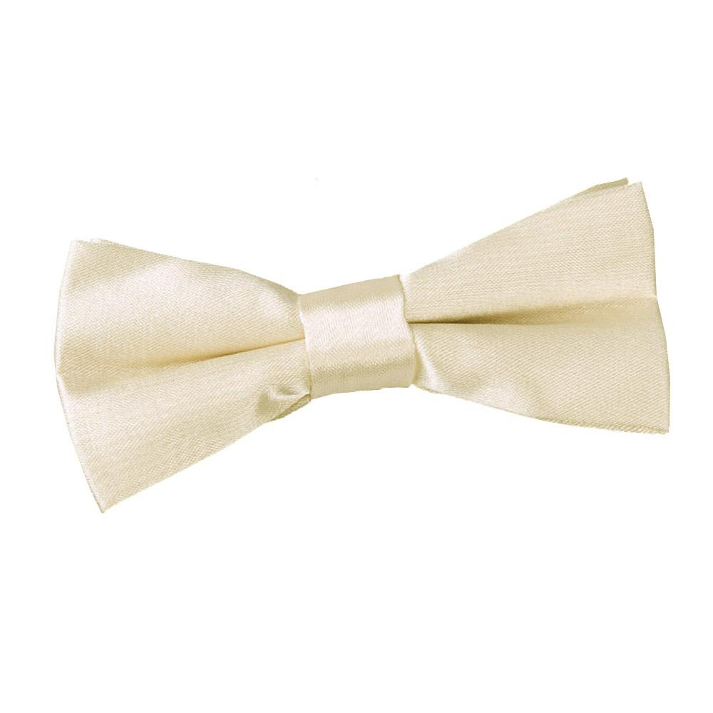 boy s plain chagne satin bow tie