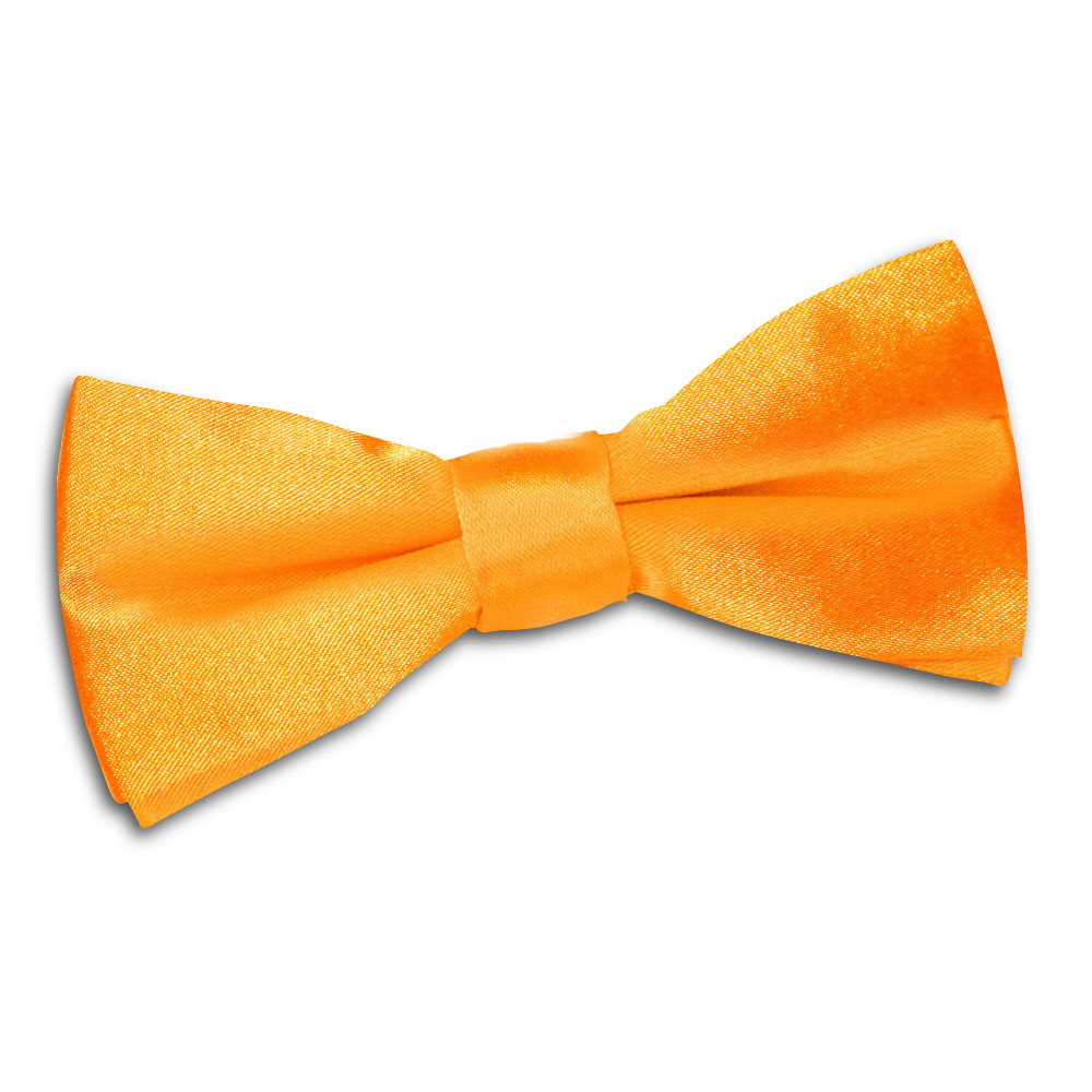 Zoom up on this orange crackerjack and you'll see a lot more going on than the solid impression. A brown outfit would love the boy's tie Daudi at first sight!