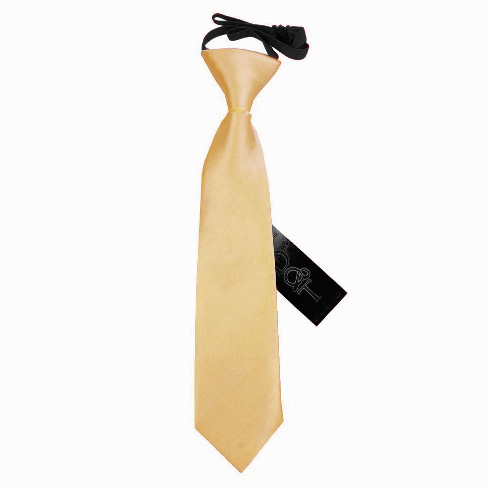 DQT Satin Plain Solid Red Kids Elasticated Pre-Tied Page Boys Tie