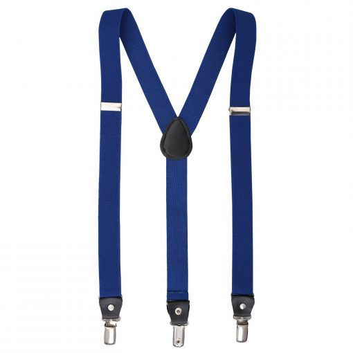 Royal Blue Plain Braces for Boys