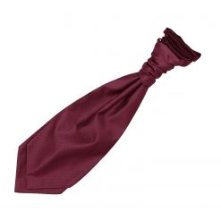 Burgundy Solid Check Pre-Tied Wedding Cravat