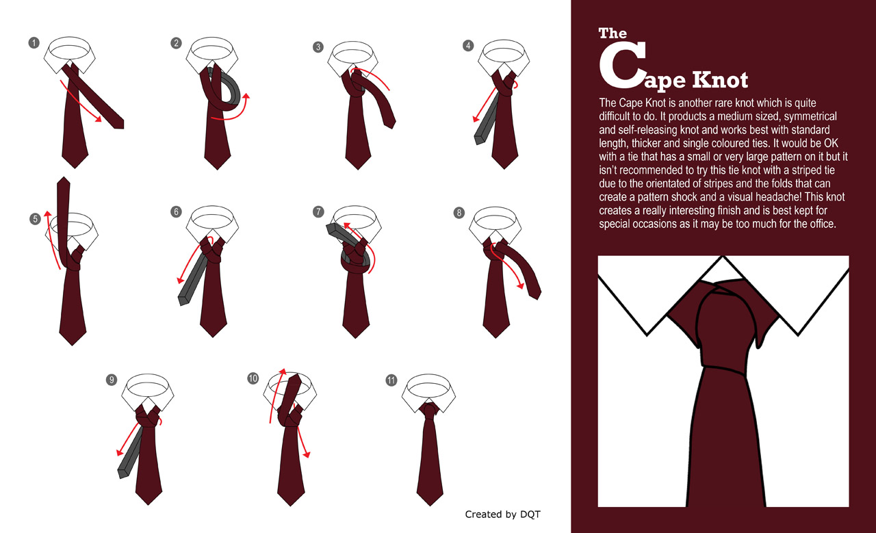 How To Tie a Cape Knot (12 of 21) by DQT