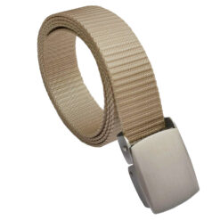 Beige Canvas Buckle Belt One Size