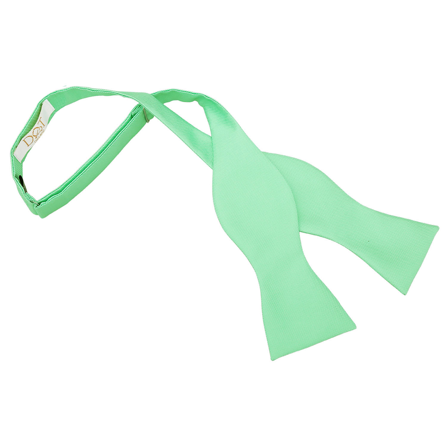 mint green solid check self tie bow tie