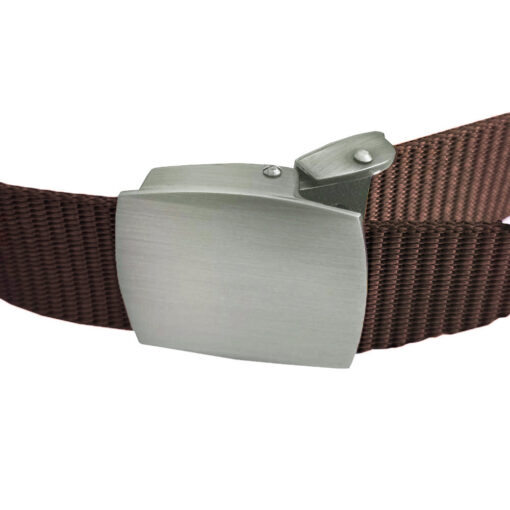 Coffee Canvas Buckle Belt One Size