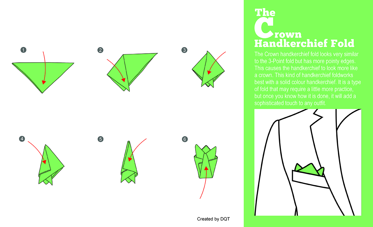 How To Fold A Crown Handkerchief (4 of 11) by DQT