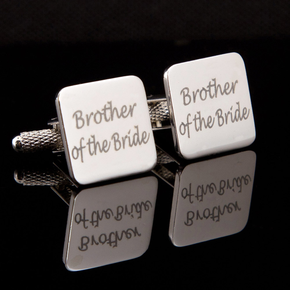 Brother of the Bride Laser Wedding Cufflinks