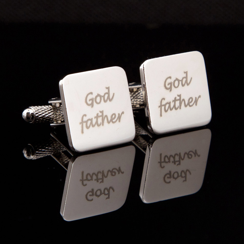 God Father Laser Wedding Cufflinks