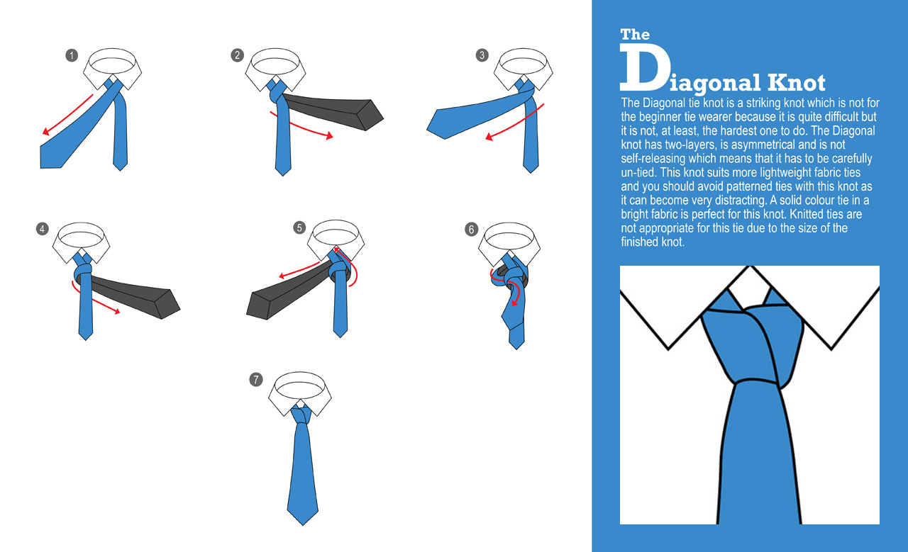 How To Tie a Diagonal Knot