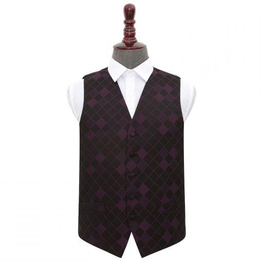 Cadbury Purple Diamond Wedding Waistcoat