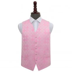 Light Pink Diamond Wedding Waistcoat