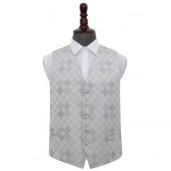 Silver Diamond Wedding Waistcoat