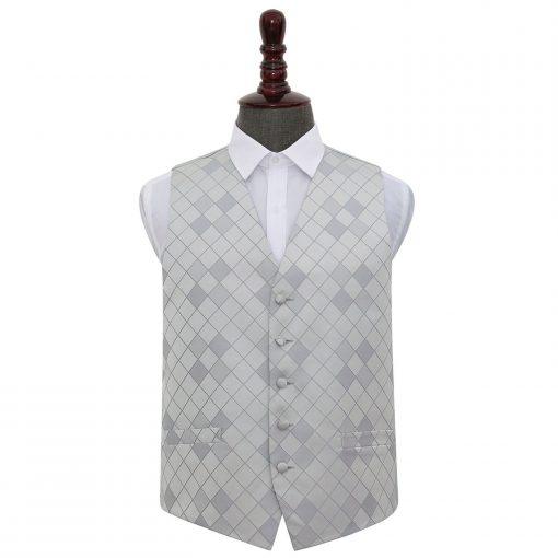Silver Diamond Wedding Waistcoat