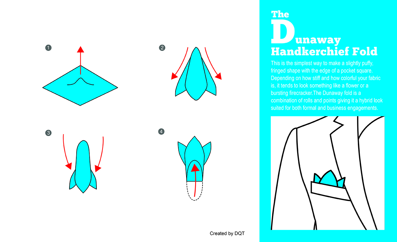 How To Fold a Dunaway Handkerchief (5 of 11) by DQT
