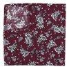 Burgundy Floral Daphne Cotton Pocket Square