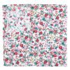 Burgundy Floral Sage Cotton Pocket Square