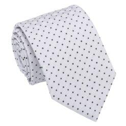Grey and Black Geometric Pin Dot Modern Classic Tie