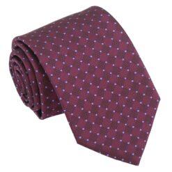 Plum and Purple Geometric Pin Dot Modern Classic Tie