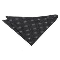 Black and White Geometric Pin Dot Pocket Square