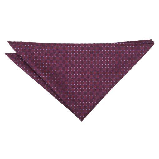 Plum and Purple Geometric Pin Dot Pocket Square