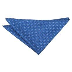 Royal Blue and White Geometric Pin Dot Pocket Square