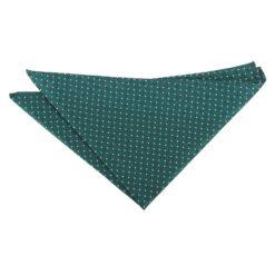Teal and White Geometric Pin Dot Pocket Square