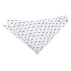 White and Black Geometric Pin Dot Pocket Square