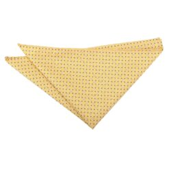 Yellow and Navy Geometric Pin Dot Pocket Square