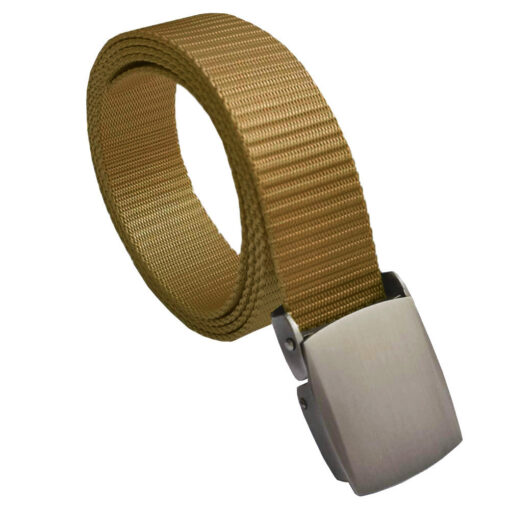 Gold Canvas Buckle Belt One Size