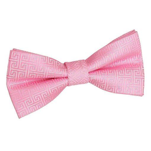 Baby Pink Greek Key Pre-Tied Bow Tie