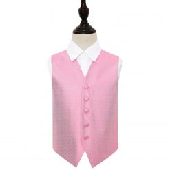 Baby Pink Greek Key Wedding Waistcoat for Boys