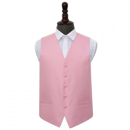 Baby Pink Greek Key Wedding Waistcoat