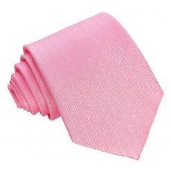 Baby Pink Greek Key Classic Tie