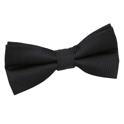 Black Greek Key Pre-Tied Bow Tie