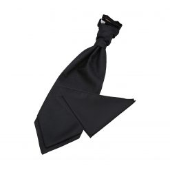 Black Greek Key Wedding Cravat & Pocket Square Set