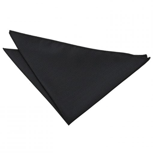 Black Greek Key Handkerchief / Pocket Square