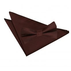Burgundy Greek Key Bow Tie & Pocket Square Set