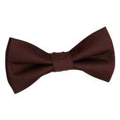 Burgundy Greek Key Pre-Tied Bow Tie for Boys