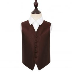 Burgundy Greek Key Wedding Waistcoat for Boys