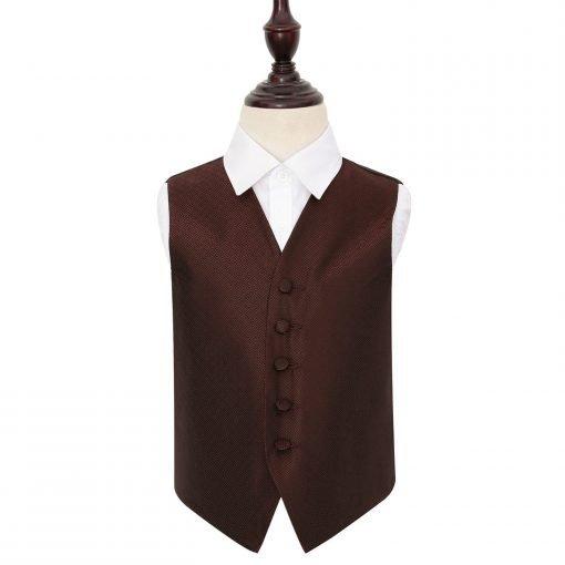 Burgundy Greek Key Wedding Waistcoat for Boys