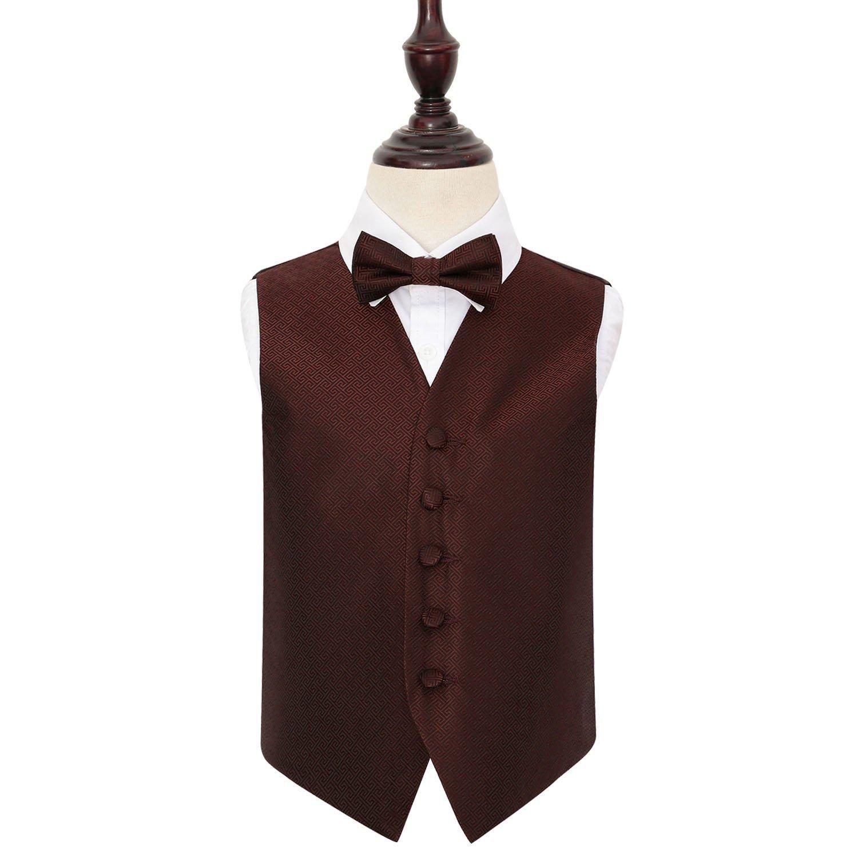 """Woven Greek Key Mens Boys Wedding Waistcoat Cravat Set Size 24/""""-50/"""""""
