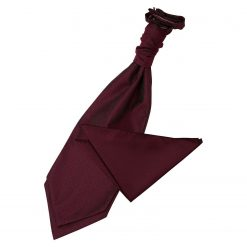 Burgundy Greek Key Wedding Cravat & Pocket Square Set