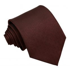 Burgundy Greek Key Classic Tie