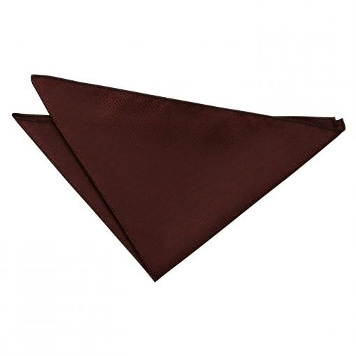 Burgundy Greek Key Handkerchief / Pocket Square